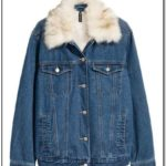 Jean Jacket With Fur Collar H&m