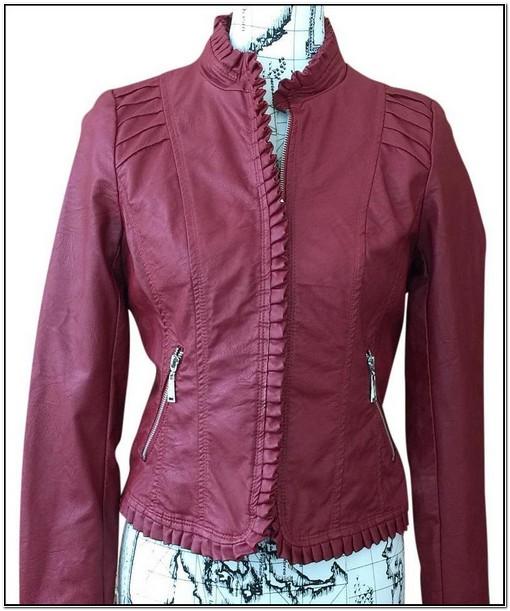 Jou Jou Red Leather Jacket