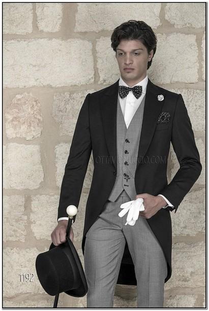 Light Grey Suit Jacket Black Pants