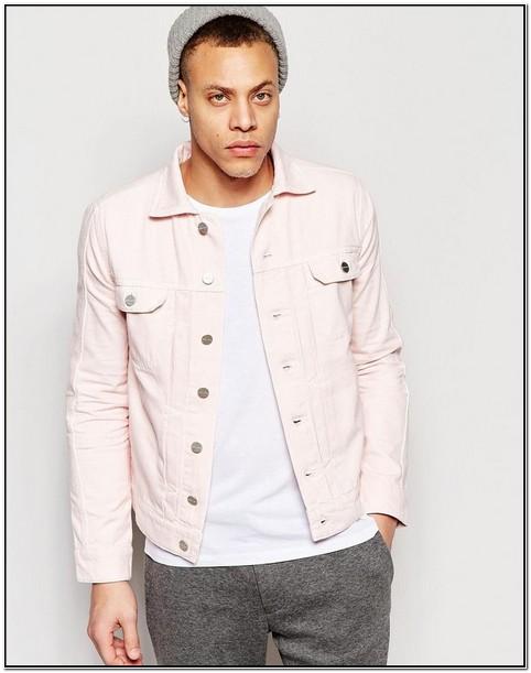 Light Pink Denim Jacket Mens