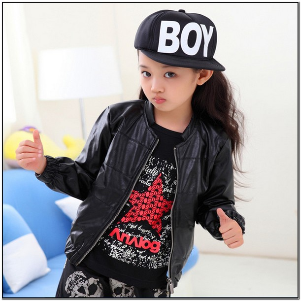 Little Girl Leather Jacket