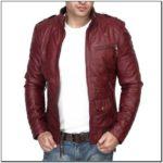 Maroon Leather Jacket Mens India
