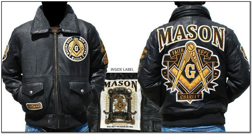 Masonic Leather Jacket