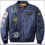 Mens Bomber Jacket With Patches