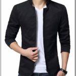 Mens Cotton Lightweight Slim Fit Jacket Casual Wear