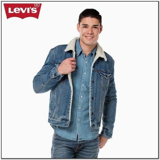 Mens Denim Jean Jacket With Fur Collar