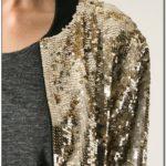Mens Gold Sequin Bomber Jacket