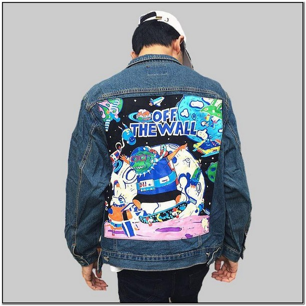 Mens Jean Jacket With Patches