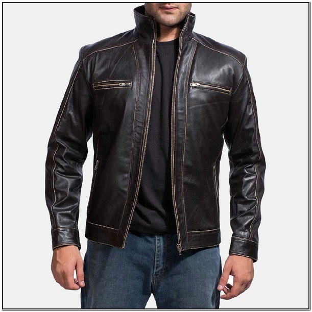 Mens Leather Biker Jackets On Sale