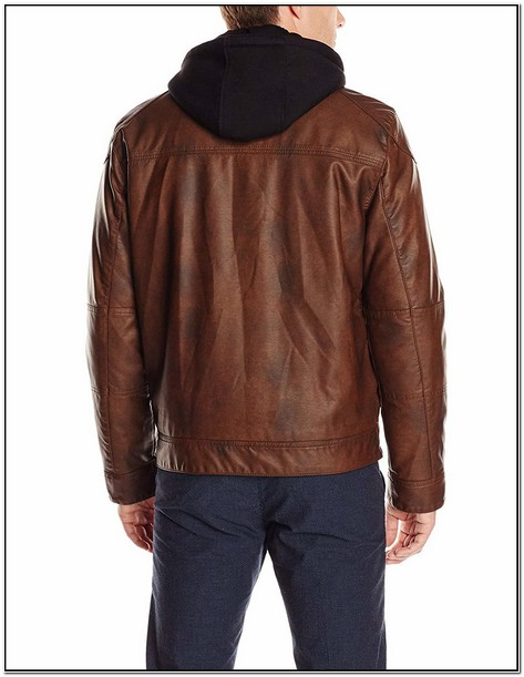 Mens Leather Jacket With Hood Amazon