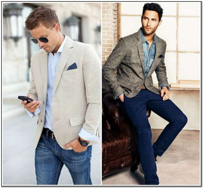 Mens Sport Jacket With Jeans