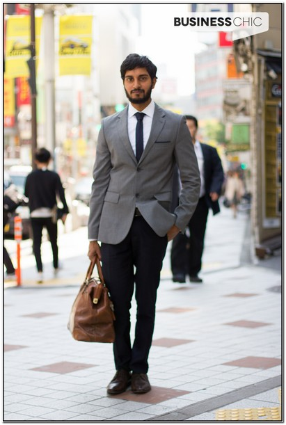 Mens Suit Grey Jacket Black Pants