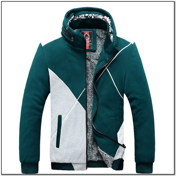 Mens Sweat Jacket Without Hood