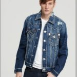 Mens True Religion Blue Jean Jacket