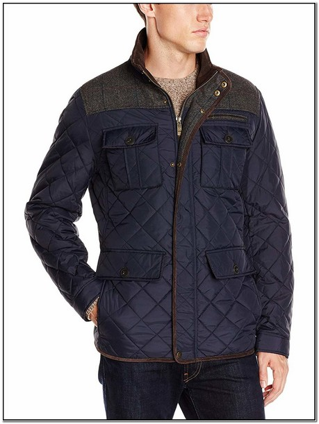 Mens Vince Camuto Diamond Quilted Full Zip Jacket