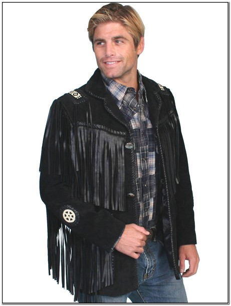 Mens Western Fringed Leather Jackets