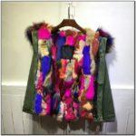 Multi Color Fur Hood Jacket