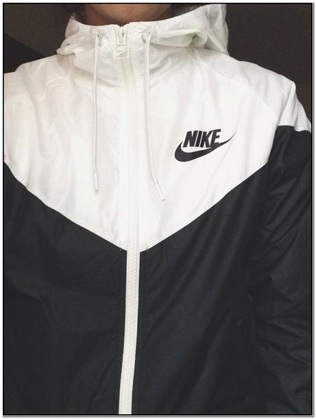 Nike Rain Jacket Womens Black And White