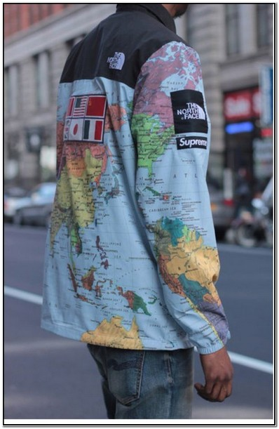 North Face Supreme Map Jacket