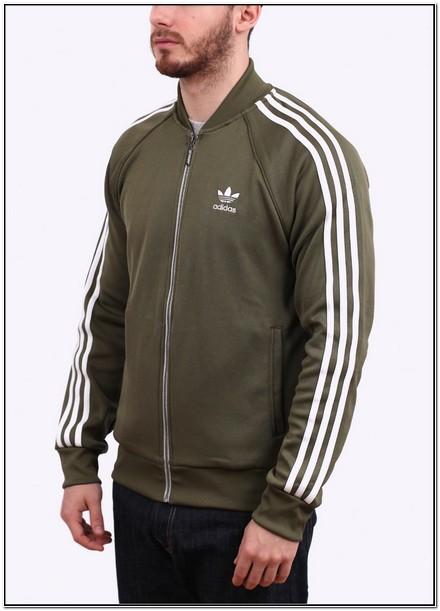 Olive Green Adidas Superstar Jacket