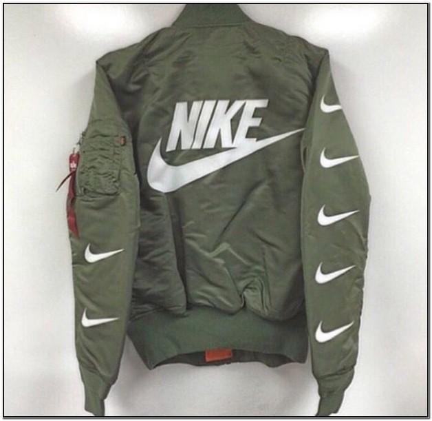 Olive Green Nike Bomber Jacket