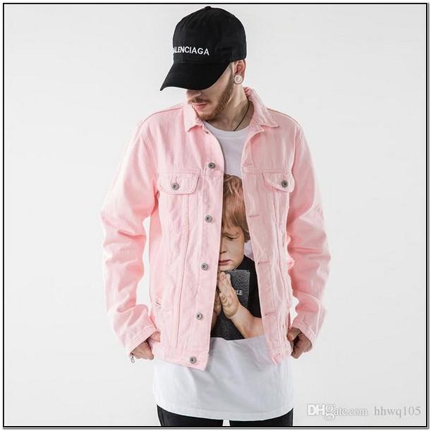 Pink Jean Jacket Mens