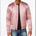 Pink Silk Bomber Jacket Mens