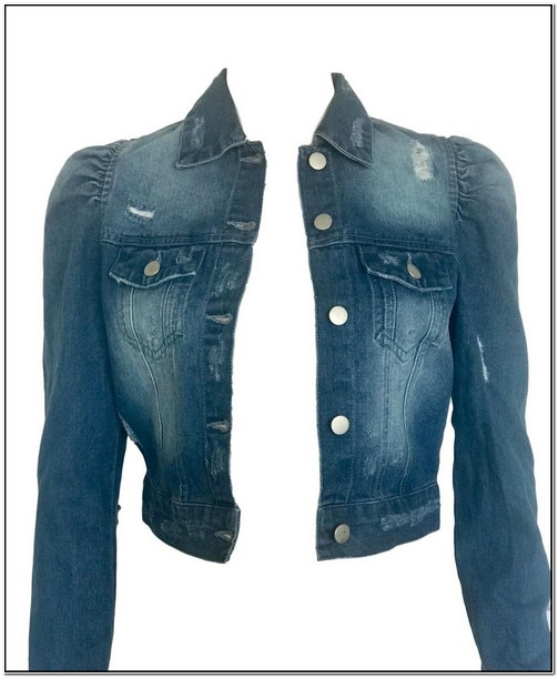 Puff Sleeve Denim Jacket Walmart