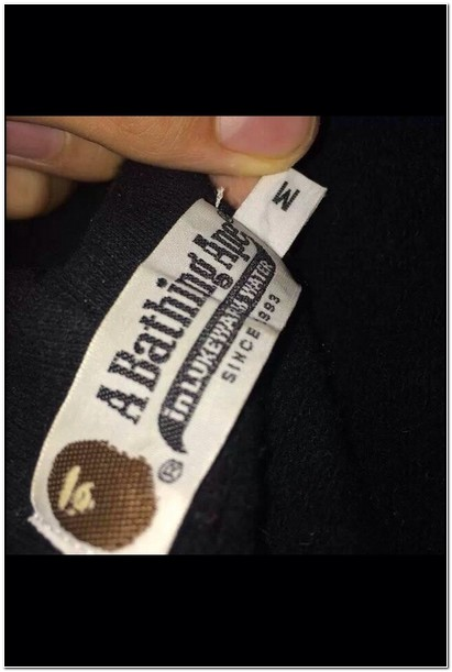 Real Bape Jacket Tags