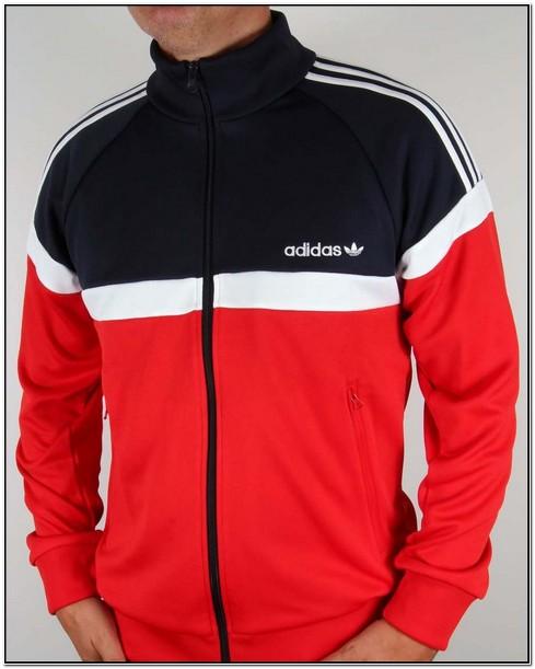 Red And Black Adidas Originals Jacket