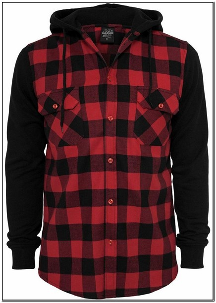 Red Flannel Jacket With Hood