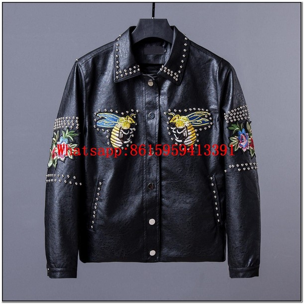 Replica Gucci Mens Leather Jacket