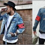 Ripped Blue Jean Jacket Mens