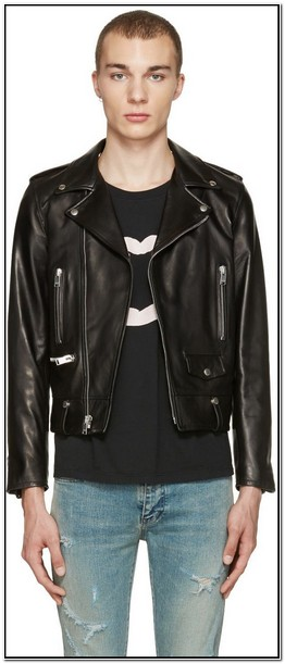 Saint Laurent Mens Leather Jacket Sale