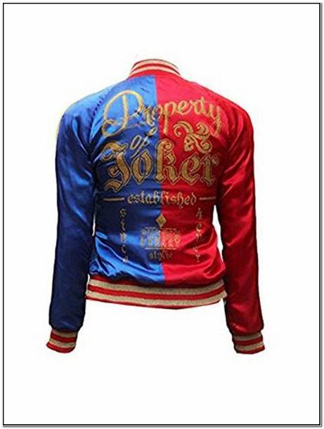 Suicide Squad Harley Quinn Cosplay Replica Satin Bomber Jacket