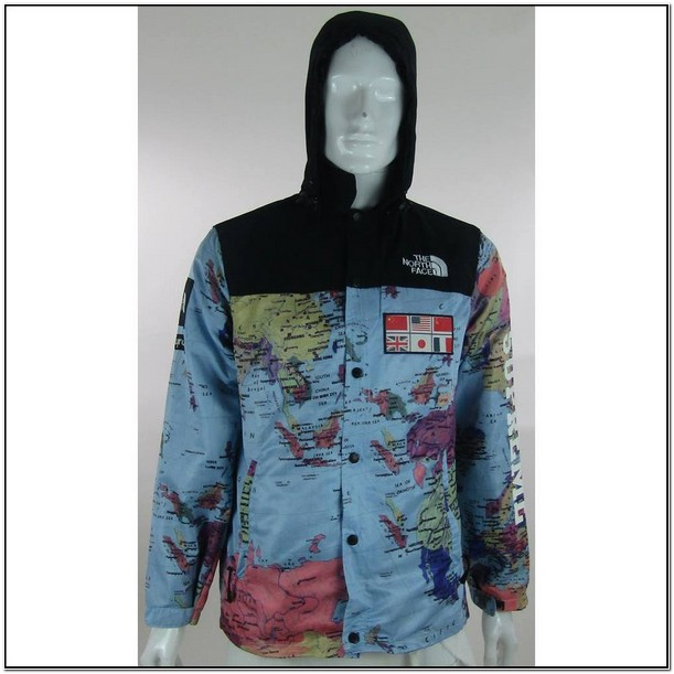 Supreme North Face World Map Jacket For Sale