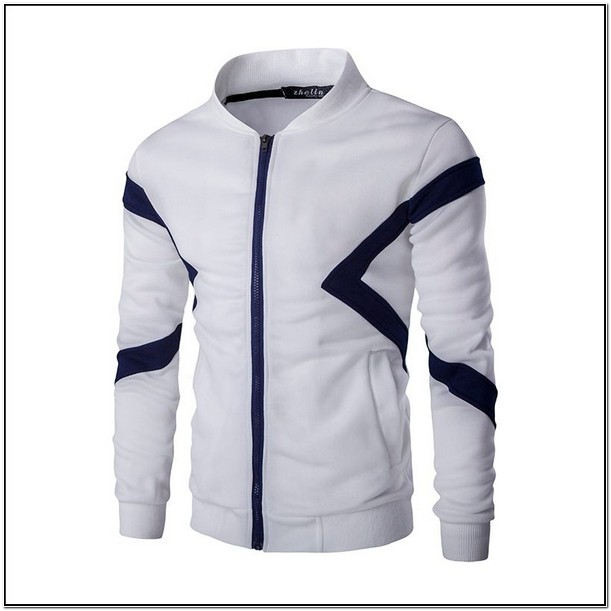 Sweatshirt Jacket Without Hood