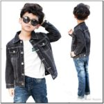 Toddler Boy Black Jean Jacket