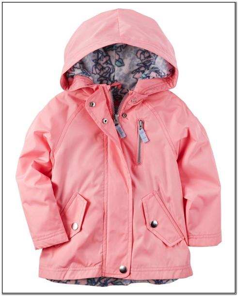 Toddler Boy Carter's Fleece Lined Hooded Rain Jacket