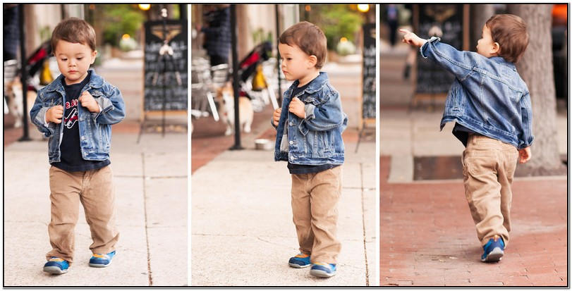 Toddler Boy Jean Jacket Outfit