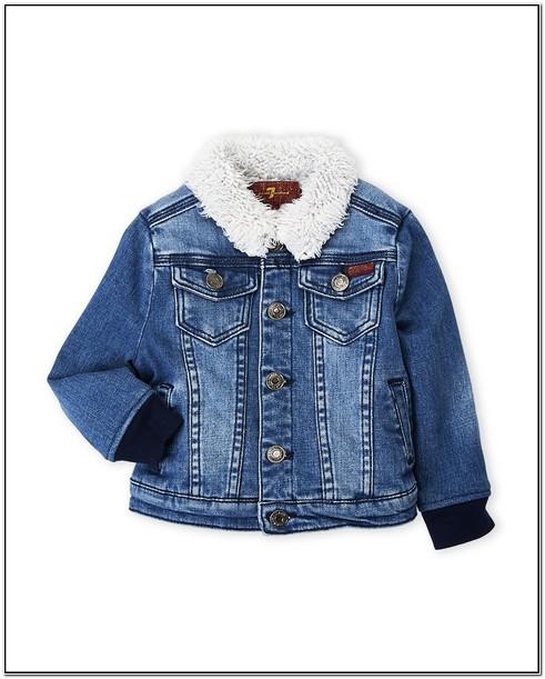 Toddler Boy Jean Jacket With Fur