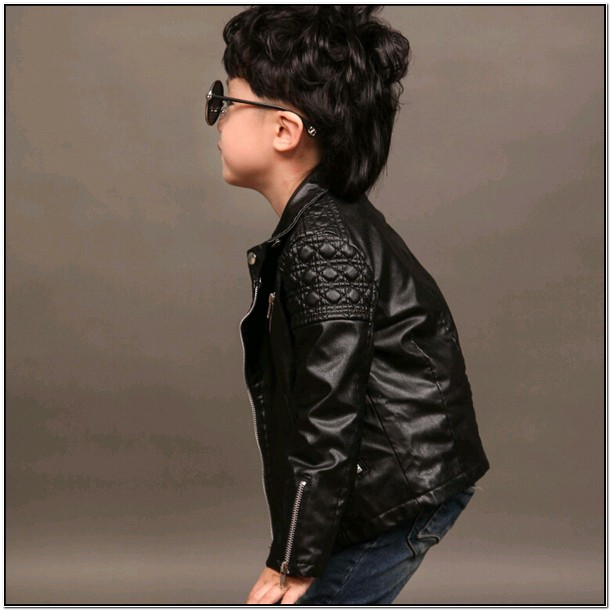 Toddler Boy Leather Biker Jacket