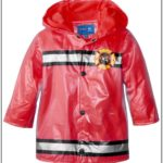 Toddler Boy Red Rain Jacket