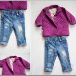 Toddler Girl Distressed Jean Jacket