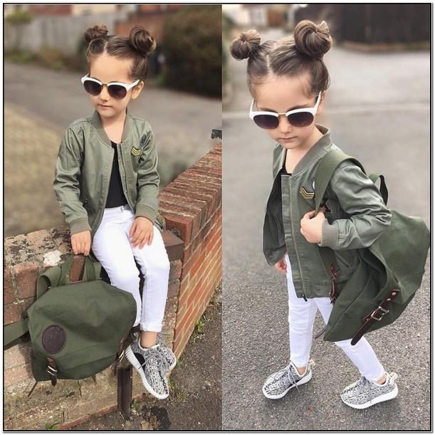 Toddler Girl Green Bomber Jacket