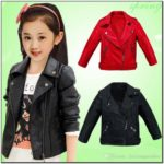 Toddler Girl Leather Jacket With Fur