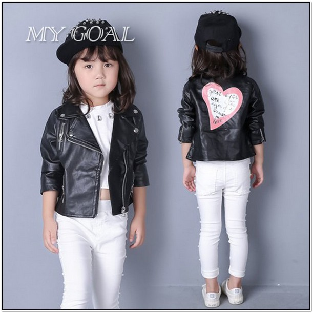 Toddler Girl Leather Jackets