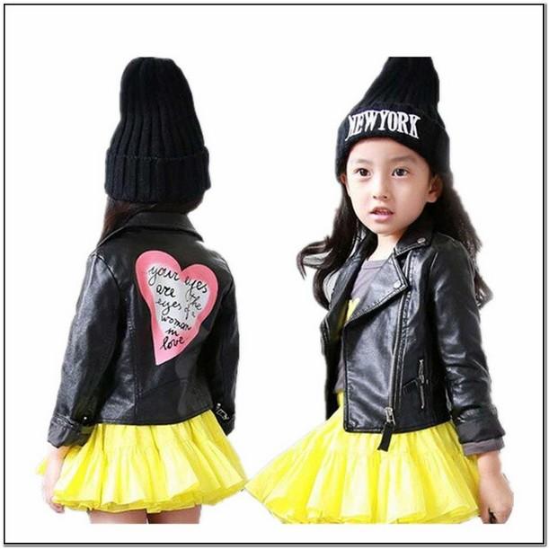 Toddler Girl Leather Moto Jacket