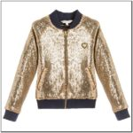 Toddler Girl Sequin Bomber Jacket