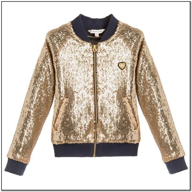 Toddler Girl Sequin Bomber Jacket